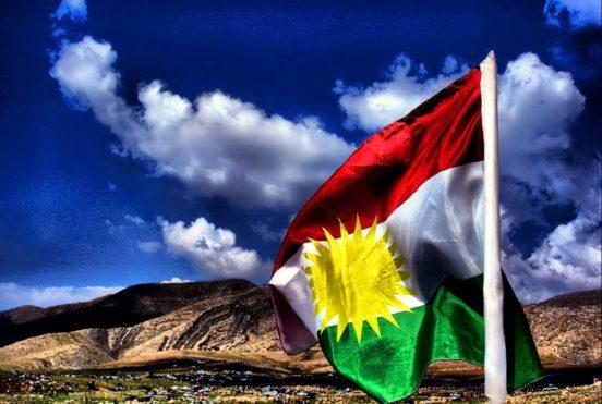 kurdische Flagge