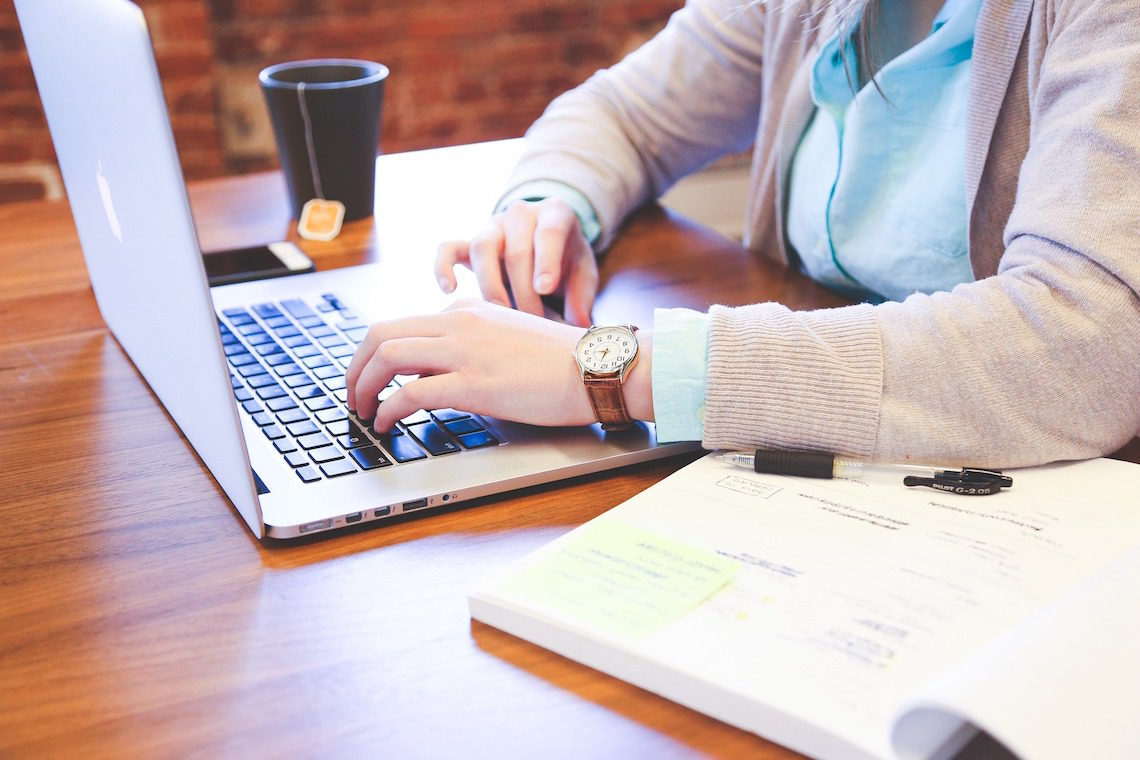 Student am Laptop